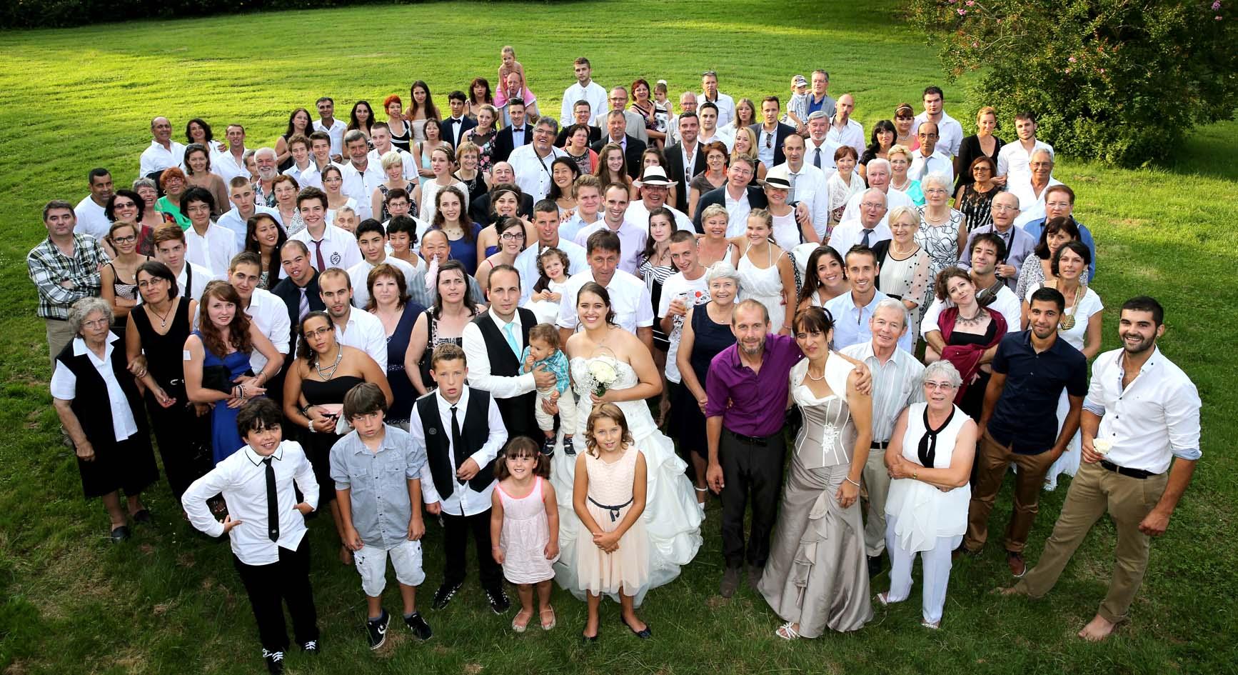 Photographe mariage auch gers s bastien lapeyr re - Photo de groupe mariage ...